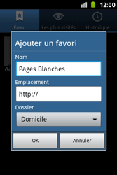 Samsung S7500 Galaxy Ace Plus - Internet - Navigation sur internet - Étape 8