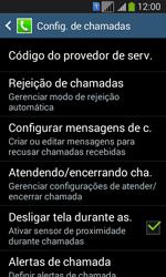Samsung SM-G3502T Galaxy Core Plus Duo TV - Chamadas - Como bloquear chamadas de um número específico - Etapa 6