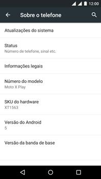 Motorola Moto X Play - Primeiros passos - Como encontrar o número de IMEI do seu aparelho - Etapa 4