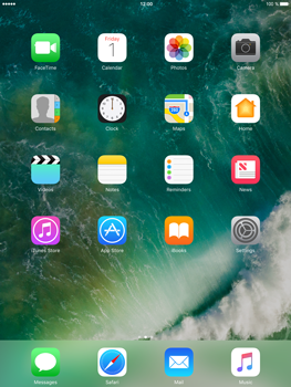 Apple iPad mini 4 iOS 10 - iOS features - Control Centre - Step 1