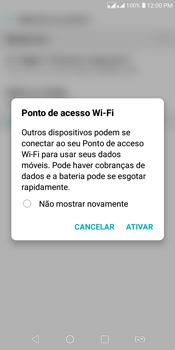 LG K12+ - Wi-Fi - Como usar seu aparelho como um roteador de rede wi-fi - Etapa 9