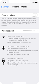 Apple iPhone XS - Internet - Set up mobile hotspot - Step 4