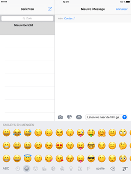 Apple iPad Pro 9.7 - iOS 10 - iOS features - Stuur een iMessage - Stap 15