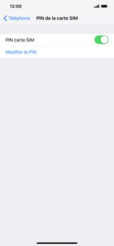 Apple iPhone XS Max - Sécuriser votre mobile - Personnaliser le code PIN de votre carte SIM - Étape 12