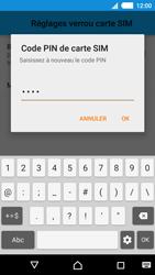 Sony Xperia M4 Aqua - Sécuriser votre mobile - Personnaliser le code PIN de votre carte SIM - Étape 12