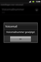 Sony ST27i Xperia Go - Voicemail - Handmatig instellen - Stap 8