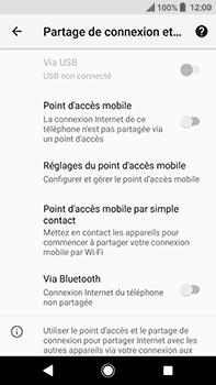 Sony Xperia XA2 Ultra - Internet et connexion - Partager votre connexion en Wi-Fi - Étape 12
