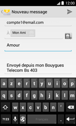 Bouygues Telecom Bs 403 - E-mails - Envoyer un e-mail - Étape 9