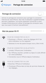 Apple iPhone 7 Plus - iOS 11 - Internet et connexion - Partager votre connexion en Wi-Fi - Étape 4