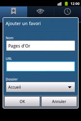 Samsung S5690 Galaxy Xcover - Internet - Navigation sur internet - Étape 8