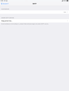 Apple ipad-air-10-5-inch-2019-model-a2123 - E-mail - Account instellen (POP3 met SMTP-verificatie) - Stap 20