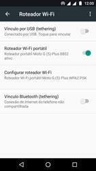Motorola Moto G5 - Wi-Fi - Como usar seu aparelho como um roteador de rede wi-fi - Etapa 10