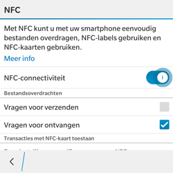 BlackBerry Classic - NFC - NFC activeren - Stap 7