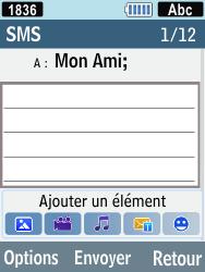 Samsung C3590 - Contact, Appels, SMS/MMS - Envoyer un SMS - Étape 6