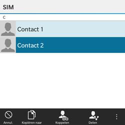 BlackBerry Classic - Contacten en data - Contacten kopiëren van SIM naar toestel - Stap 9
