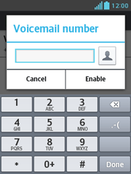 LG E430 Optimus L3 II - Voicemail - Manual configuration - Step 8