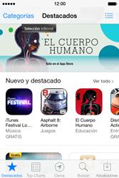 Apple iPhone 4S iOS 7 - Aplicaciones - Tienda de aplicaciones - Paso 3