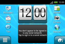HTC A810e ChaCha - Network - Usage across the border - Step 1