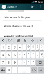 Huawei Y3 - E-mail - e-mail versturen - Stap 10