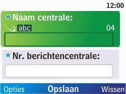 Nokia C3-00 - SMS - Handmatig instellen - Stap 8