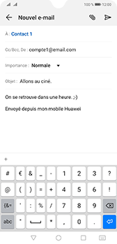 Huawei Mate 20 - E-mail - envoyer un e-mail - Étape 8
