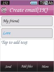 Samsung S7070 Diva - E-mail - Sending emails - Step 9