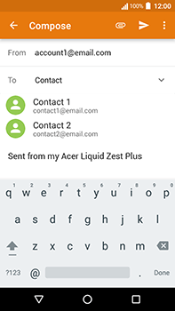 Acer Liquid Zest 4G Plus - E-mail - Sending emails - Step 6