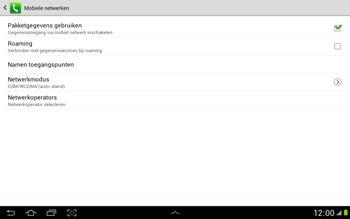 Samsung N8000 Galaxy Note 10-1 - Internet - Internet gebruiken in het buitenland - Stap 8