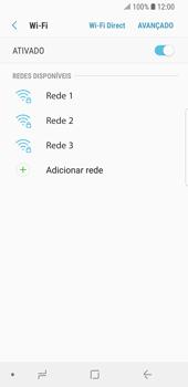 Samsung Galaxy S9 - Wi-Fi - Como configurar uma rede wi fi - Etapa 7
