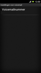 Sony ST26i Xperia J - Voicemail - handmatig instellen - Stap 6