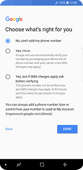 Samsung Galaxy S9 - Applications - Create an account - Step 17