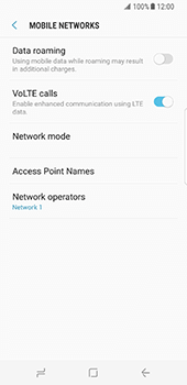 Samsung Galaxy S8 - Network - Usage across the border - Step 11