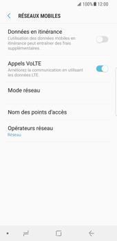 Samsung Galaxy S8 - Android Oreo - Réseau - utilisation à l'étranger - Étape 9