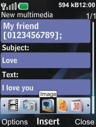 Nokia 6600i slide - MMS - Sending pictures - Step 11