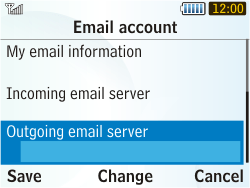 Samsung S3350 Chat 335 - E-mail - Manual configuration - Step 17