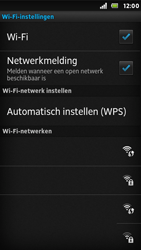 Sony ST25i Xperia U - Wifi - handmatig instellen - Stap 7