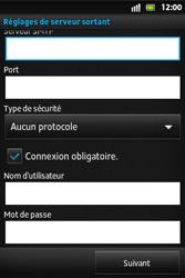 Sony ST27i Xperia Go - E-mail - Configurer l