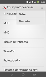 Sony D2105 Xperia E1 Dual - Internet (APN) - Como configurar a internet do seu aparelho (APN Nextel) - Etapa 17
