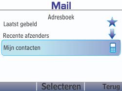 Nokia Asha 210 - E-mail - Hoe te versturen - Stap 8
