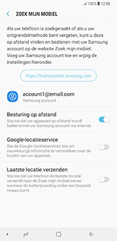 Samsung Galaxy Note 8 - Beveiliging en privacy - Zoek mijn mobiel activeren - Stap 7