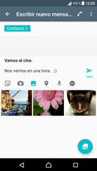 Sony Xperia E5 (F3313) - Mensajería - Escribir y enviar un mensaje multimedia - Paso 14