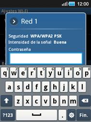Samsung S5570 Galaxy Mini - WiFi - Conectarse a una red WiFi - Paso 8
