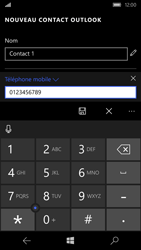 Microsoft Lumia 550 - Contact, Appels, SMS/MMS - Ajouter un contact - Étape 6