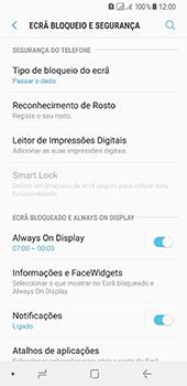 Samsung Galaxy A8 (2018) - Segurança - Como ativar o código de bloqueio do ecrã -  5