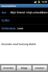 Samsung S5830i Galaxy Ace i - E-mail - e-mail versturen - Stap 8