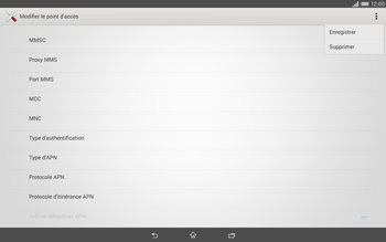 Sony Xperia Tablet Z2 (SGP521) - MMS - configuration manuelle - Étape 16