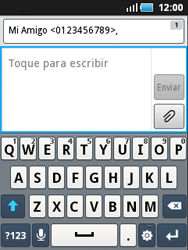 Samsung S5570 Galaxy Mini - Mensajería - Escribir y enviar un mensaje multimedia - Paso 6
