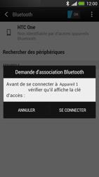 HTC One - Internet et connexion - Connexion avec un équipement multimédia via Bluetooth - Étape 8