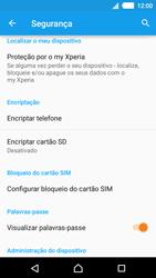 Sony Xperia M4 Aqua - Segurança - Como ativar o código PIN do cartão de telemóvel -  5