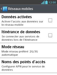 LG E430 Optimus L3 II - Internet - activer ou désactiver - Étape 8